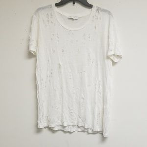 I R O White Top with Short Sleeves Size 40